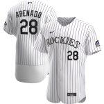 Nike Nolan Arenado Colorado Rockies White Home 2020 Authentic Player Jersey