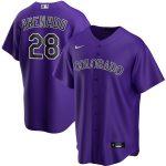 Nike Nolan Arenado Colorado Rockies Purple Alternate 2020 Replica Player Jersey