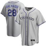 Nike Nolan Arenado Colorado Rockies Gray Road 2020 Replica Player Jersey