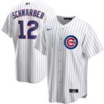 Nike Kyle Schwarber Chicago Cubs White Home 2020 Replica Player Jersey
