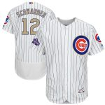 Majestic Kyle Schwarber Chicago Cubs White 2017 Gold Program Flex Base Player Jersey