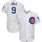 Majestic Javier Baez Chicago Cubs White/Royal Home Authentic Collection Flex Base Player Jersey
