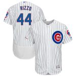 Majestic Anthony Rizzo Chicago Cubs White/Royal Home Flex Base Authentic Collection Player Jersey