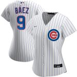 Nike Javier Baez Chicago Cubs Women's White Home 2020 Replica Player Jersey
