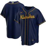 Nike Milwaukee Brewers Navy Alternate 2020 Replica Team Jersey