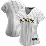 Nike Milwaukee Brewers Women's White/Navy Alternate 2020 Replica Team Jersey