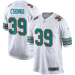 Nike Larry Csonka Miami Dolphins White Retired Player Game Jersey