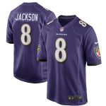 Nike Lamar Jackson Baltimore Ravens Purple Game Jersey