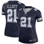 Nike Ezekiel Elliott Dallas Cowboys Women's Navy Legend Jersey
