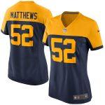 Nike Clay Matthews Green Bay Packers Women's Navy Alternate Game Jersey