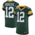 Nike Aaron Rodgers Green Bay Packers Green Vapor Elite Jersey