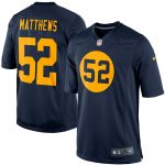Nike Clay Matthews Green Bay Packers Navy Blue Throwback Limited Jersey