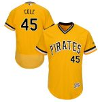 Majestic Gerrit Cole Pittsburgh Pirates Gold Alternate Flex Base Authentic Collection Player Jersey