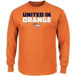 Majestic Denver Broncos Orange Hot Phrase Long Sleeve T-Shirt