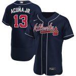 Nike Ronald Acuna Jr. Atlanta Braves Navy Alternate 2020 Authentic Player Jersey