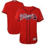 Majestic Atlanta Braves Red Hispanic Heritage Flex Base Team Jersey
