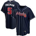 Nike Freddie Freeman Atlanta Braves Navy Alternate 2020 Replica Player Jersey