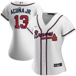 Nike Ronald Acuna Jr. Atlanta Braves Women's White Home 2020 Replica Player Jersey