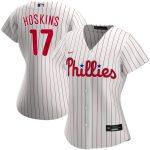 Nike Rhys Hoskins Philadelphia Phillies Women's White Home 2020 Replica Player Jersey