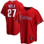 Nike Aaron Nola Philadelphia Phillies Red Alternate 2020 Replica Player Jersey