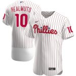 Nike JT Realmuto Philadelphia Phillies White Home 2020 Authentic Player Jersey