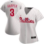 Nike Bryce Harper Philadelphia Phillies Women's White Home 2020 Replica Player Jersey