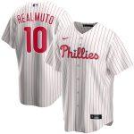 Nike JT Realmuto Philadelphia Phillies White Home 2020 Replica Player Jersey