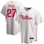 Nike Aaron Nola Philadelphia Phillies White Home 2020 Replica Player Jersey