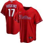 Nike Rhys Hoskins Philadelphia Phillies Red Alternate 2020 Replica Player Jersey