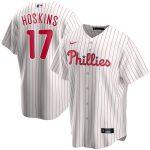 Nike Rhys Hoskins Philadelphia Phillies White Home 2020 Replica Player Jersey