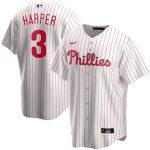 Nike Bryce Harper Philadelphia Phillies White Home 2020 Replica Player Jersey