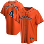 Nike George Springer Houston Astros Orange Alternate 2020 Replica Player Jersey