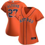 Nike Jose Altuve Houston Astros Women's Orange Alternate 2020 Replica Player Jersey