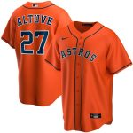 Nike Jose Altuve Houston Astros Orange Alternate 2020 Replica Player Jersey