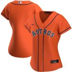 Nike Houston Astros Women's Orange Alternate 2020 Replica Team Jersey