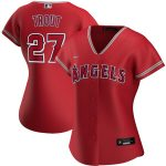 Nike Mike Trout Los Angeles Angels Women's Red Alternate 2020 Replica Player Jersey