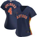 Nike George Springer Houston Astros Women's Navy Alternate 2020 Replica Player Jersey