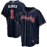 Nike Ozzie Albies Atlanta Braves Navy Alternate 2020 Replica Player Jersey