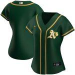 Nike Oakland Athletics Women's Green Alternate 2020 Replica Team Jersey