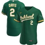 Nike Khris Davis Oakland Athletics Kelly Green Alternate 2020 Authentic Player Jersey