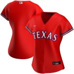 Nike Texas Rangers Women's Red Alternate 2020 Replica Team Jersey