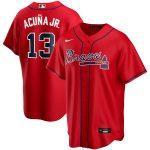 Nike Ronald Acuna Jr. Atlanta Braves Red Alternate 2020 Replica Player Jersey