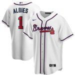 Nike Ozzie Albies Atlanta Braves White Home 2020 Replica Player Jersey