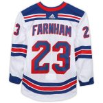 Fanatics Authentic Bobby Farnham New York Rangers Game-Used #23 White Jersey from the 2017-18 NHL Preseason - Size 56