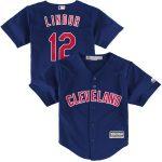 Majestic Francisco Lindor Cleveland Indians Toddler Navy Alternate Official Cool Base Player Jersey