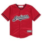 Cleveland Indians Toddler Red Alternate Replica Team Jersey