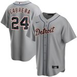 Nike Miguel Cabrera Detroit Tigers Gray Road 2020 Replica Player Jersey