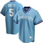Nike George Brett Kansas City Royals Light Blue Road Cooperstown Collection Player Jersey