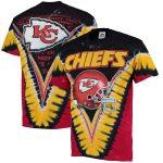 Majestic Kansas City Chiefs Black V Tie-Dye T-Shirt