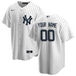 Nike New York Yankees White/Navy Home 2020 Replica Custom Jersey